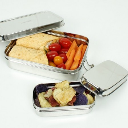 Large Lunch Box & Mini Container - A Slice Of Green