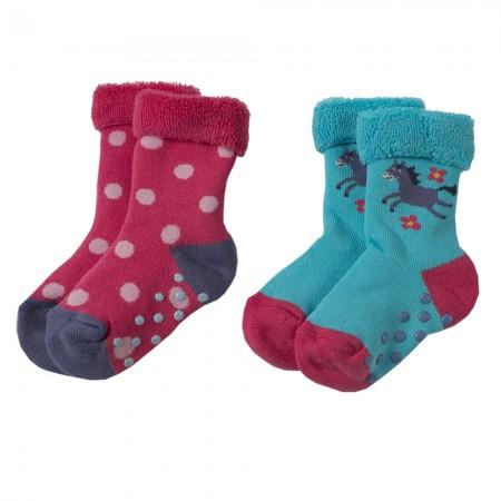 Frugi Horse Grippy Socks x2
