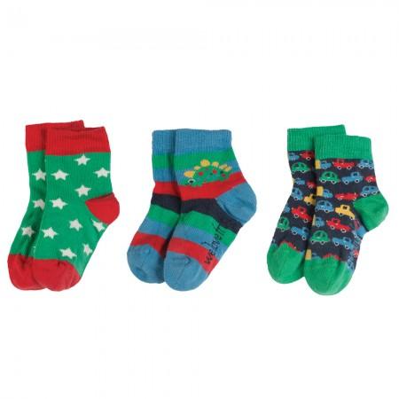 Frugi Cars Little Socks 3-Pack
