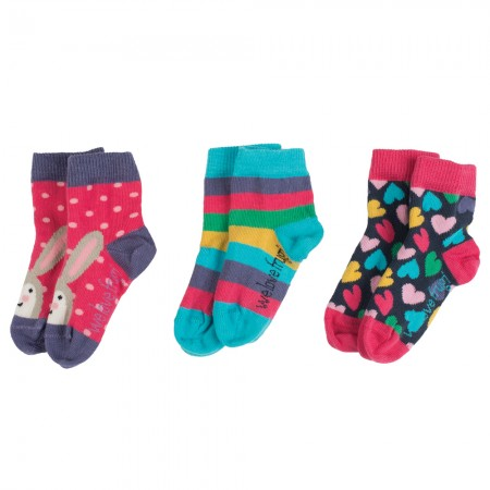 Frugi Hearts Little Socks 3-Pack