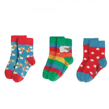 Frugi Rainbow Little Socks 3-Pack