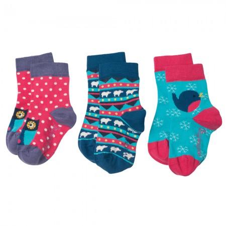 Frugi Birds & Bears Susie Socks 3-Pack