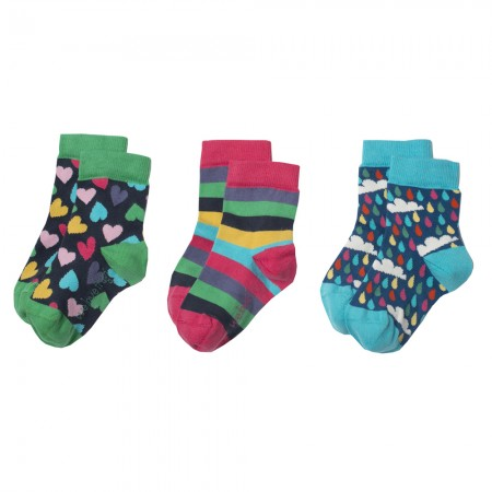 Frugi Rainbow Susie Socks 3-Pack