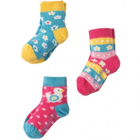 Frugi Flower Little Socks 3-Pack