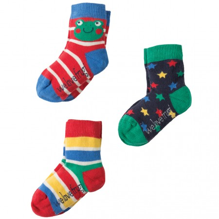 Frugi Frog Little Socks 3-Pack