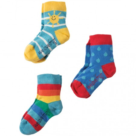 Frugi Sunshine Little Socks 3-Pack