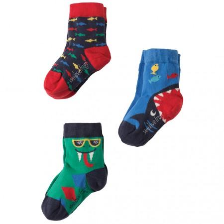 Frugi Snake Rock My Socks 3 Pack