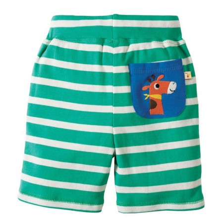 Frugi Giraffe Little Stripey Shorts