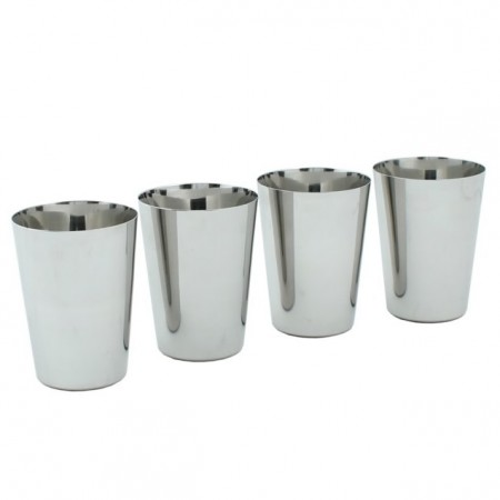 Stainless Steel 300ml Cups x 4 - A Slice Of Green