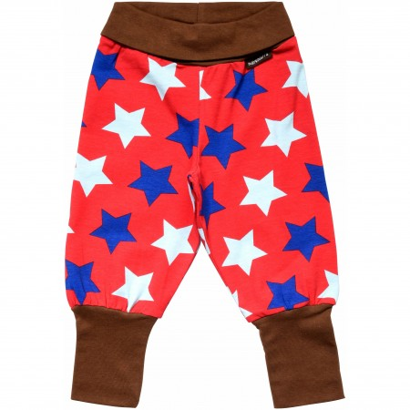 Maxomorra Rib Pants Stars