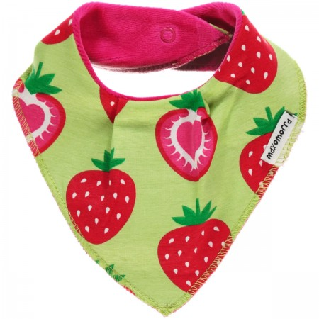 Maxomorra Strawberry Dribble Bib