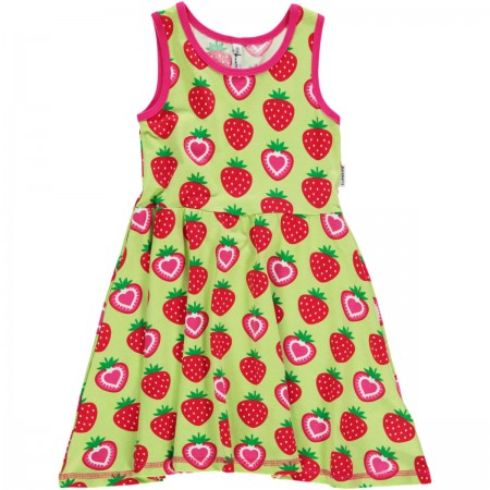 Maxomorra Strawberry Gathered Dress
