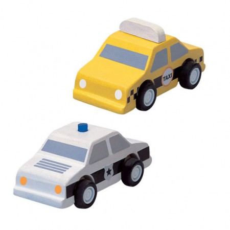 Plan Toys Taxi & Police Car PlanWorld