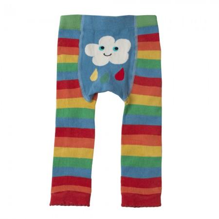 Frugi Rainbow Cloud Knitted Leggings