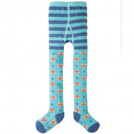 Frugi Aqua Foxes Norah Tights