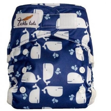 Tickle Tots Hybrid Nappy-Blue Whales