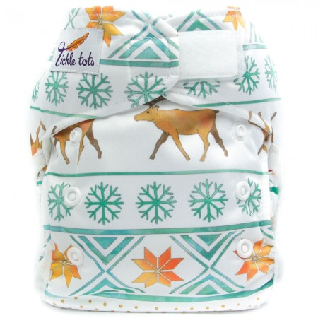Tickle Tots Hybrid Nappy - Winter Green