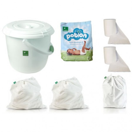 Tots Bots Nappy Bucket and Accessory Pack