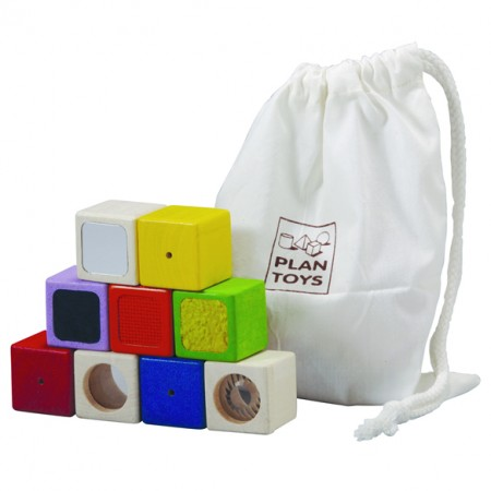 Plan Toys Touch, Feel & See Activity Blocks