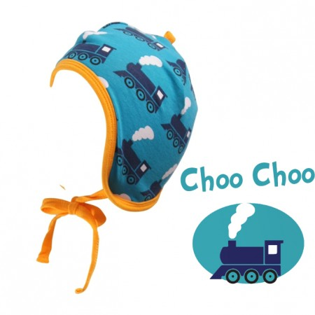 Maxomorra Train Baby Hat