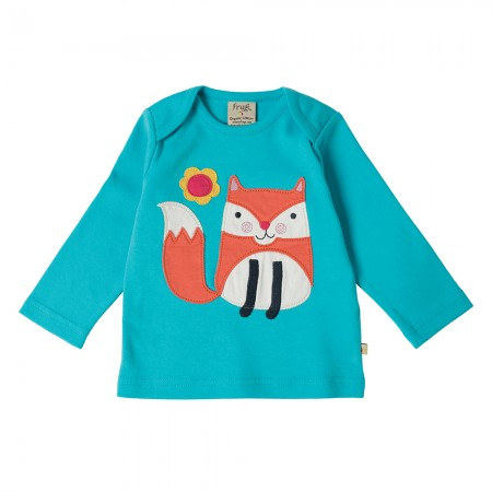 Frugi Fox Bobby Applique Top