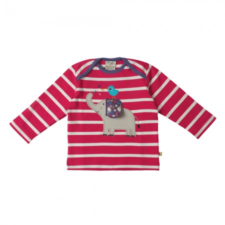 Frugi Elephant Bobby Applique Top