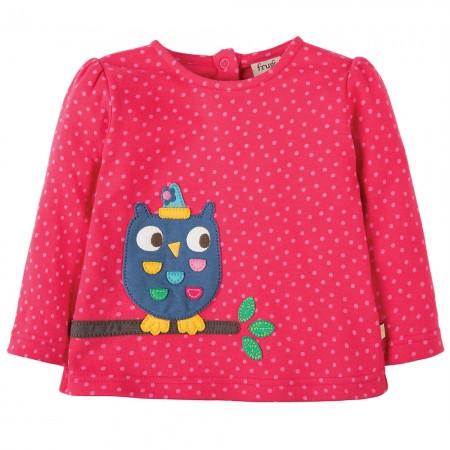 Frugi Owl Connie Applique Top