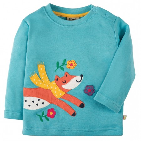 Frugi Fox Discovery Applique Top