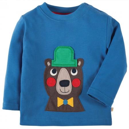Frugi Bear Discovery Applique Top