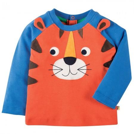 Frugi Tiger Happy Raglan Top
