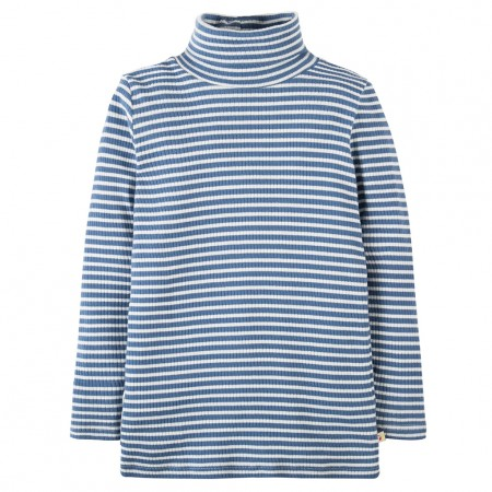 Frugi Blue Ava Stripe Roll Neck