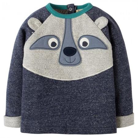 Frugi Raccoon Forest Friend Raglan Top