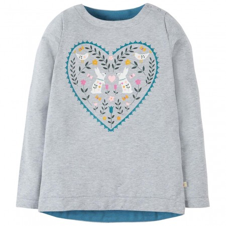 Frugi Heart Alicia Printed Top