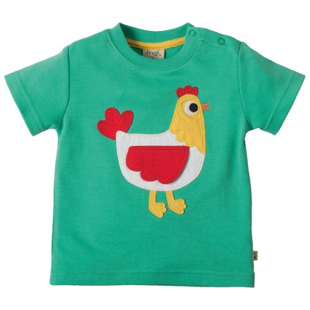 Frugi Hen Little Creature Applique T-shirt