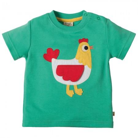 Frugi Hen Little Creature Applique T-shirt