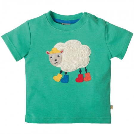 Frugi Sheep Little Creature Applique T-shirt