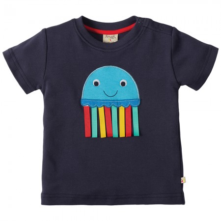 Frugi Jellyfish Little Creature Applique T-shirt