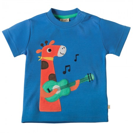 Frugi Giraffe Little Creature Applique T-shirt