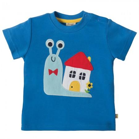 Frugi Snail Little Creature Applique T-shirt
