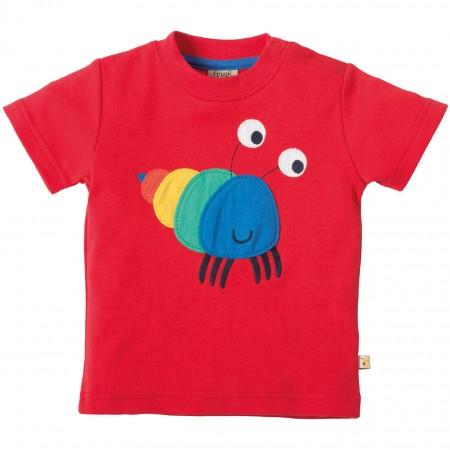 Frugi Hermit Crab Little Creature Applique T-shirt