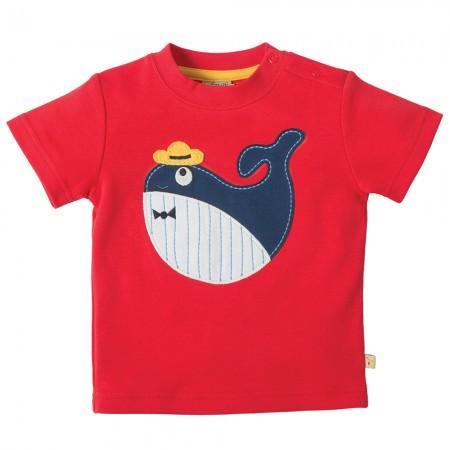 Frugi Whale Little Creature Applique T-shirt