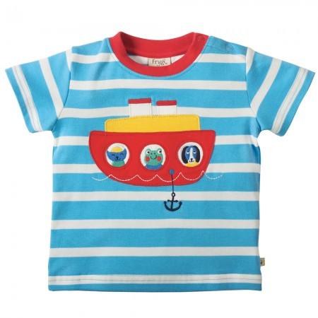 Frugi Boat Little Fal Applique T-shirt