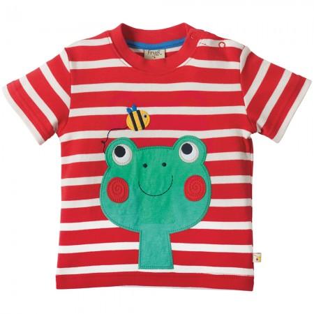 Frugi Frog Little Fal Applique T-shirt