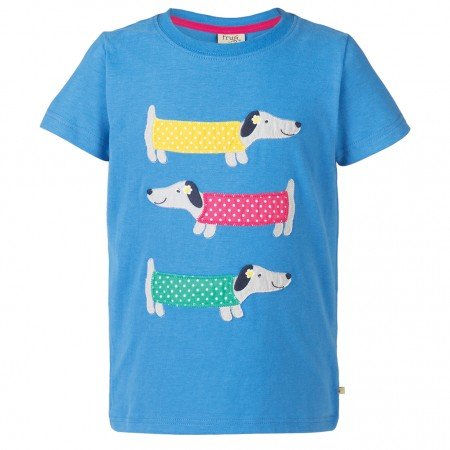 Frugi Dog Gwenver Applique T-Shirt