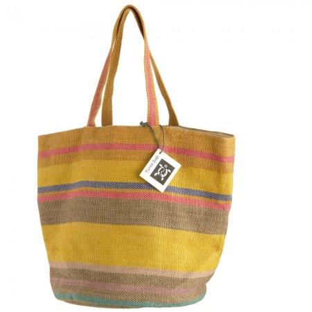 Fair Trade handwoven Ochre Jute Bag – Turtle Bags