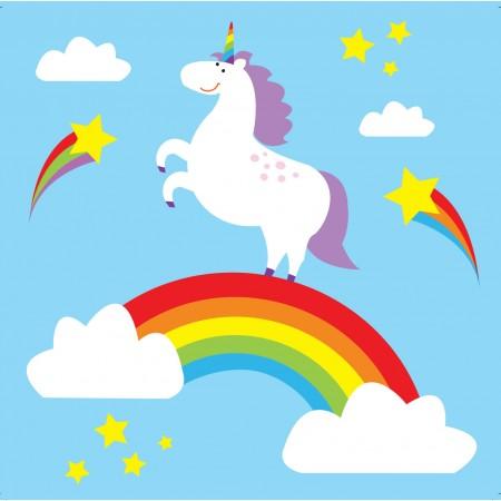 Babipur Rainbow Unicorn Greetings Card