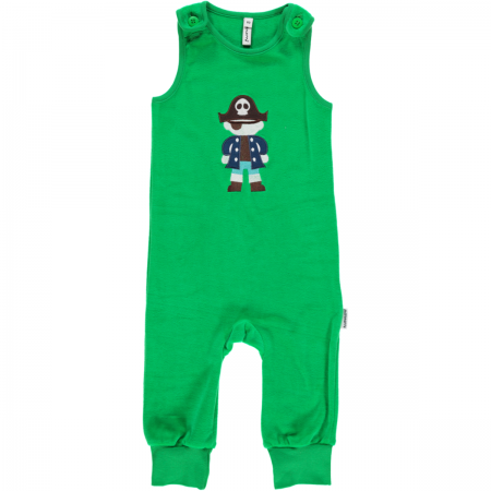 Maxomorra Green Embroidered Pirate Dungarees