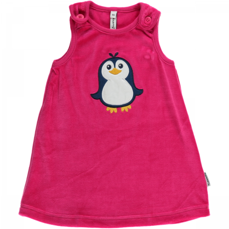 Maxomorra Penguin Embroidered Dress