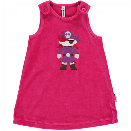 Maxomorra Pink Embroidered Pirate Dress