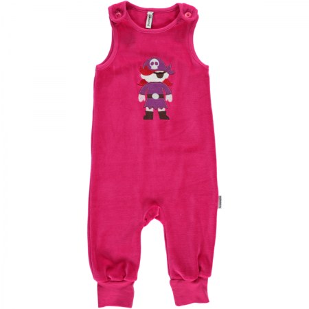 Maxomorra Pink Embroidered Pirate Dungarees